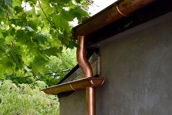 zinc gutter and downpipes